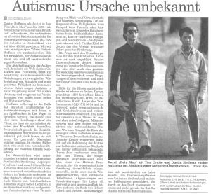 Frankfurter Neue Presse, Autismus - Ursache unbekannt / von Wolfgang Klauke